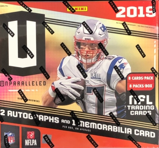 2019 Panini Unparalleled NFL Football Hobby Box