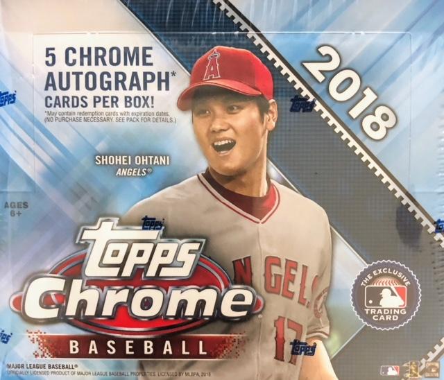2018 Topps Chrome Mlb Baseball Jumbo Box