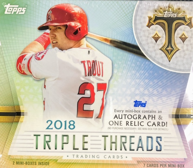 2018 Topps Triple Threads MLB Baseball Hobby Box