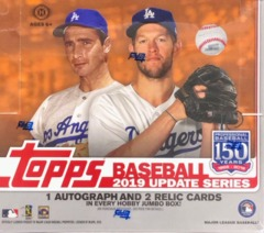 2019 Topps Update Series MLB Baseball Jumbo Box