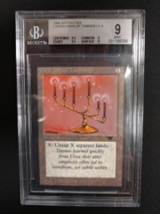 Candelabra Of Tawnos BGS 9 MINT Antiquities MTG Magic Graded Card