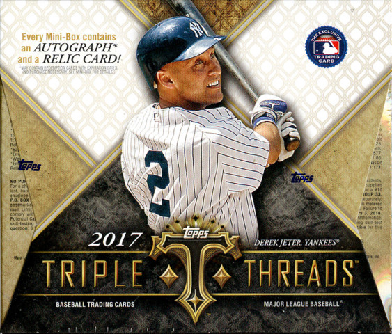 2017 Topps Triple Threads MLB Baseball Hobby Box