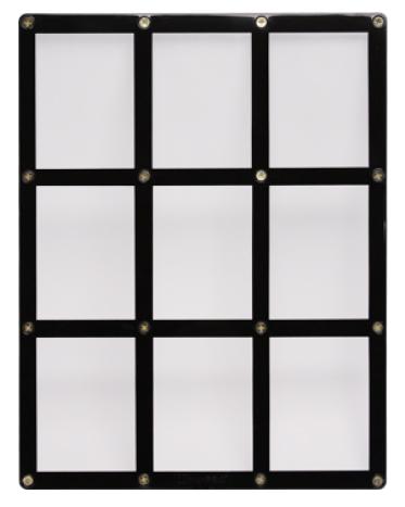 Screwdown Black-Frame 9-card Holder