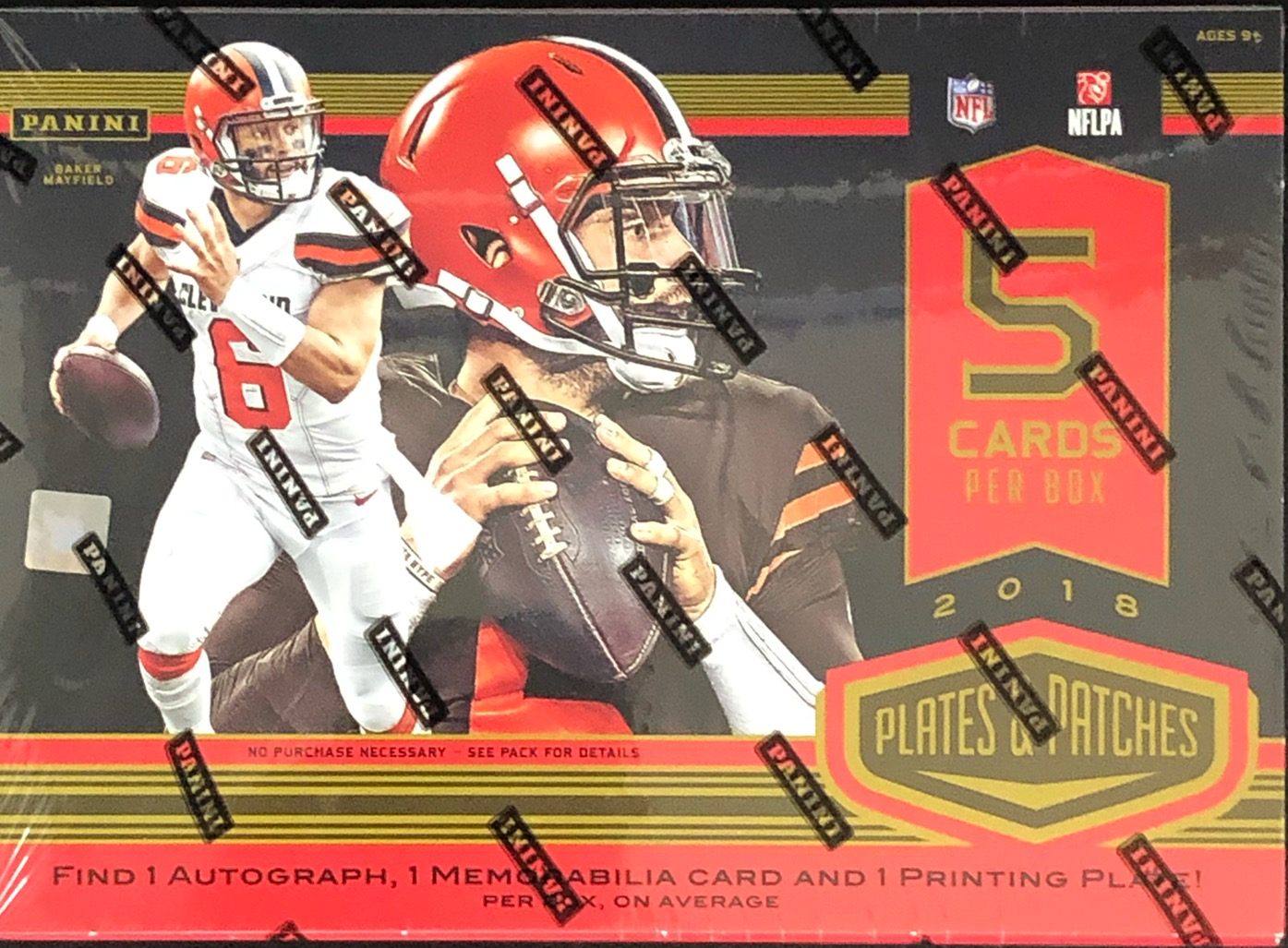 2018 Panini Plates & Patches NFL Football Hobby Box