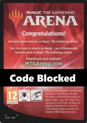 Unused MTG Arena Code Card: Ikoria (Gives 1x Online Boosters, Limit 5)