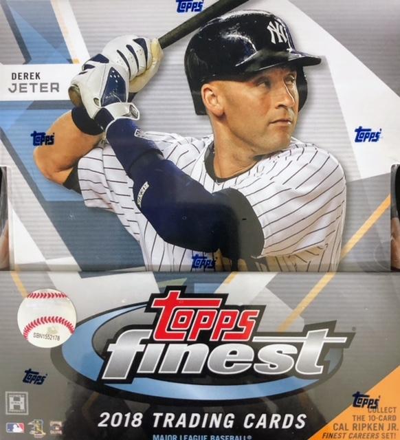 2018 Topps Finest MLB Baseball Hobby Box