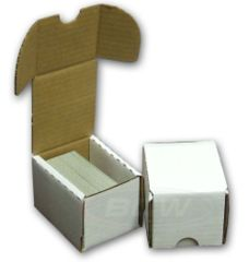 100 Count Cardboard Storage Box - White