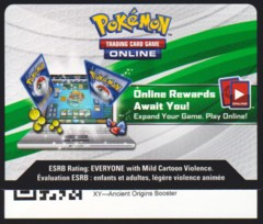 XY Ancient Origins - Unused Booser Pack TCGO Code Card