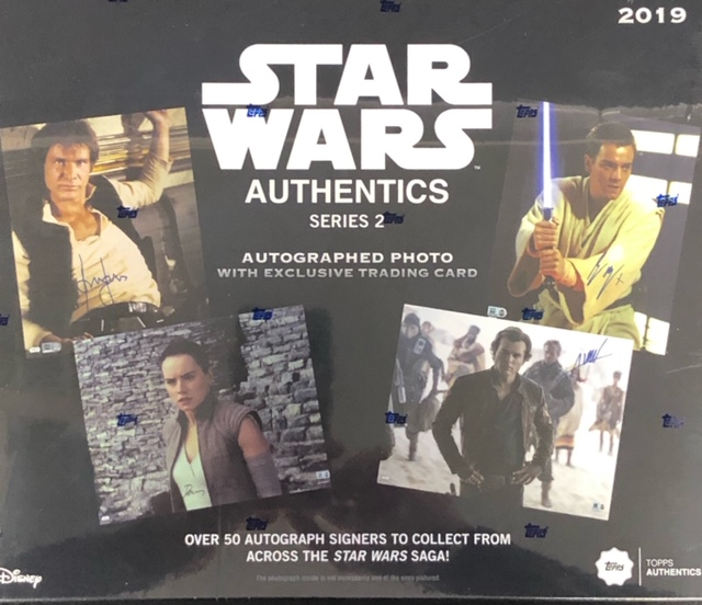 2019 Topps Star Wars Authentics Autographed Photo & Trading Card Series 2 Box