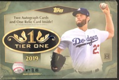 2019 Topps Tier One MLB Baseball Hobby Box