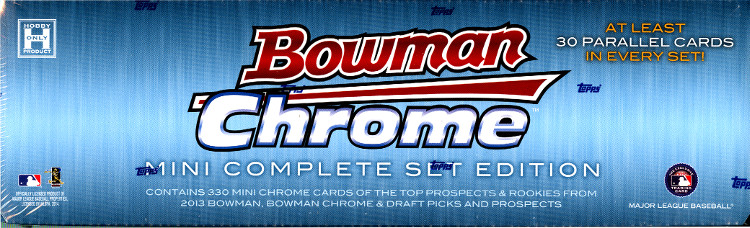 2013 Bowman Chrome MLB Baseball Mini Complete Hobby Set Box