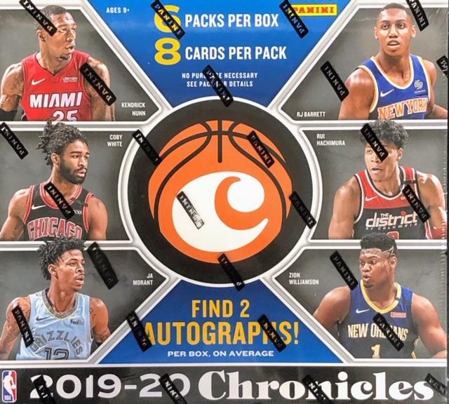2019-20 Panini Chronicles NBA Basketball Hobby Box