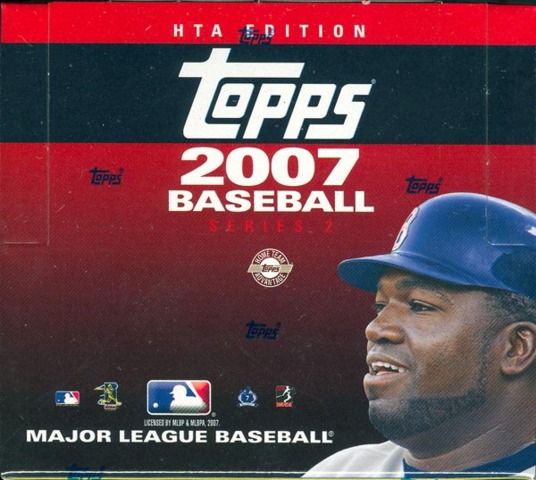 2007 Topps Series 2 MLB Baseball Jumbo Box