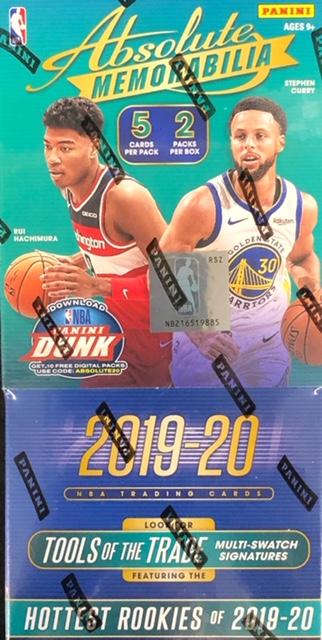 2019-20 Panini Absolute Memorabilia NBA Basketball Hobby Box