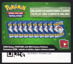 Forbidden Light: Unused Booster Pack TCGO Code Card
