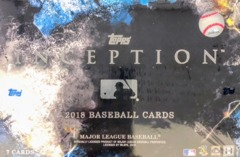 2018 Topps Inception MLB Baseball Hobby Box