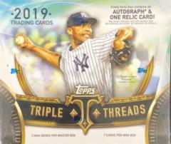 2019 Topps Triple Threads MLB Baseball Hobby Box