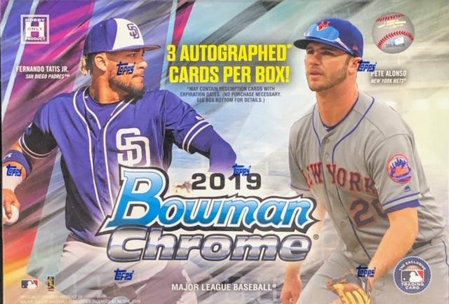 2019 Bowman Chrome MLB Baseball HTA Jumbo Box