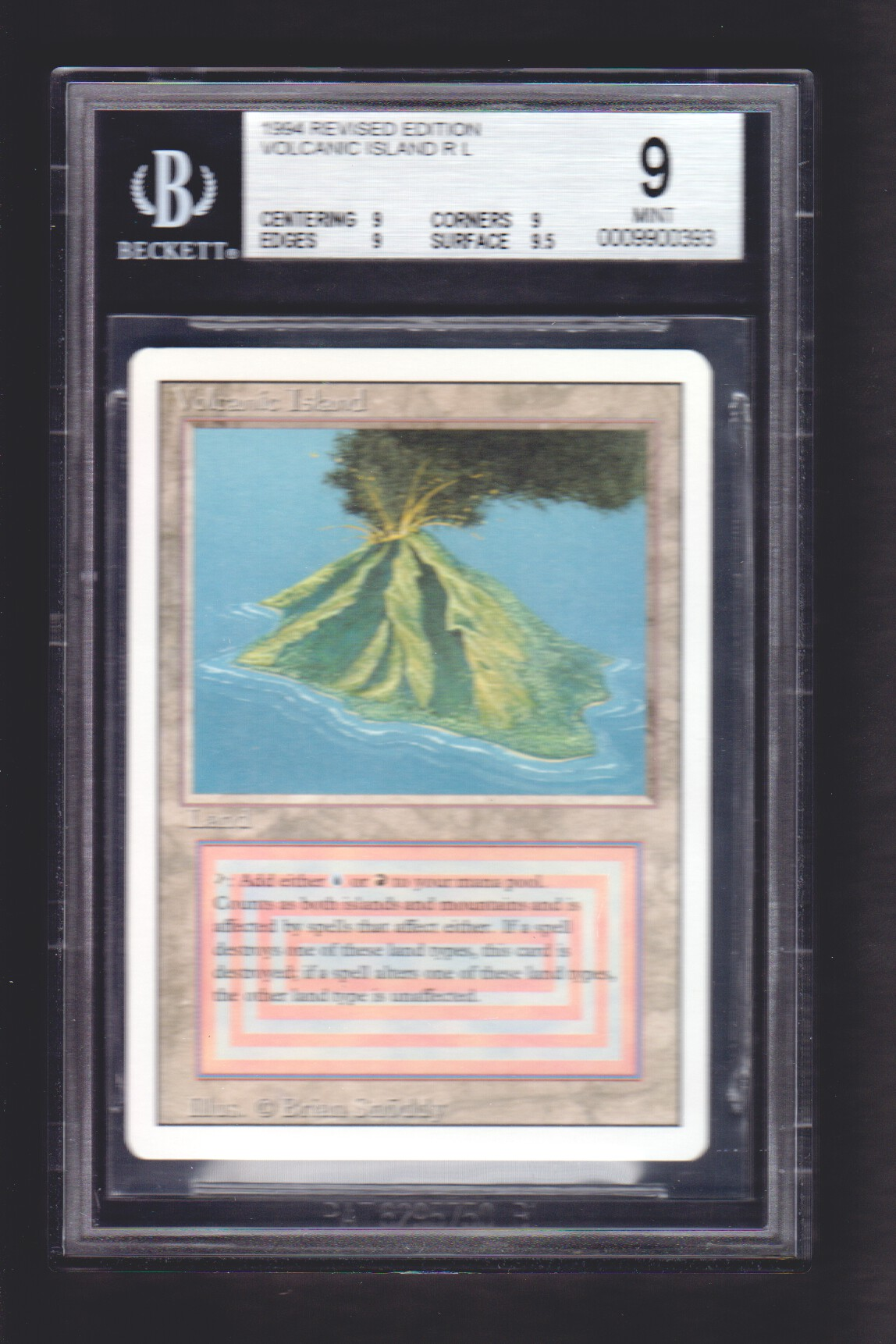 Volcanic Island BGS 9 MINT 3rd Edition / Revised MTG Magic Graded Card