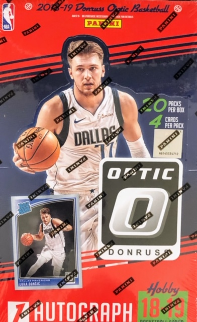 2018-19 Panini Donruss Optic NBA Basketball Hobby Box