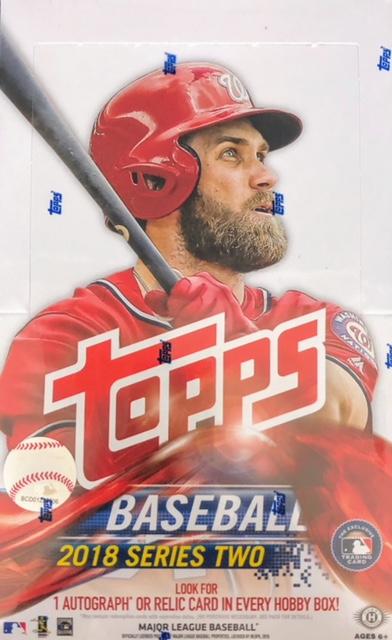 2018 Topps Series 2 MLB Baseball Hobby Box