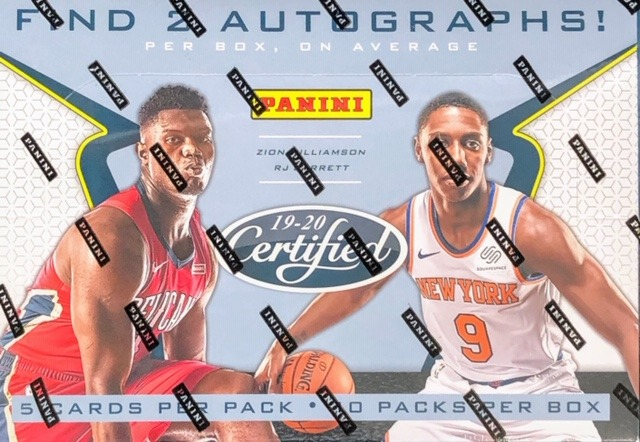 2019-20 Panini Certified NBA Basketball Hobby Box