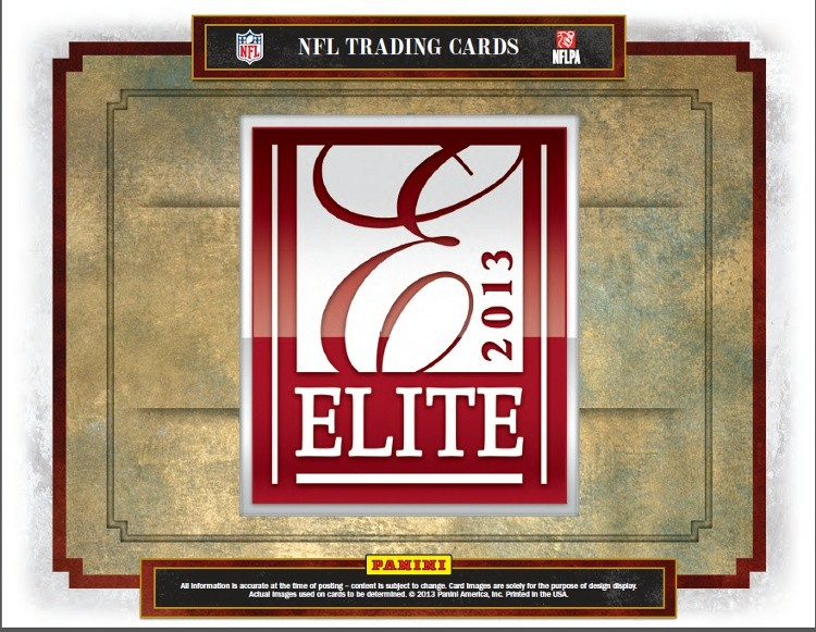 2013 Panini Elite NFL Football Box