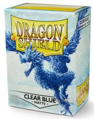 Dragon Shield Sleeves: Clear Blue Matte (Box Of 100)