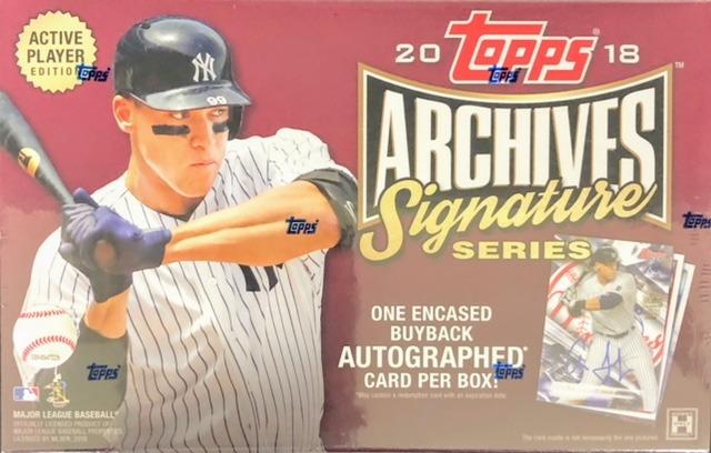 2018 Topps Archives Signature Series MLB Baseball Hobby Box - Active Player Edition