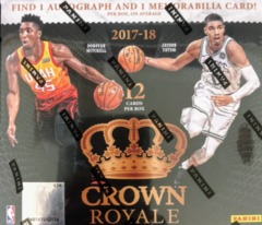 2017-18 Panini Crown Royale NBA Basketball Hobby Box