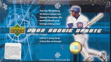 2002 Upper Deck Rookie Update MLB Baseball Hobby Box