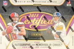 2018 Panini Certified NFL Football Hobby Box