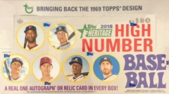 2018 Topps Heritage High Number MLB Baseball Hobby Box