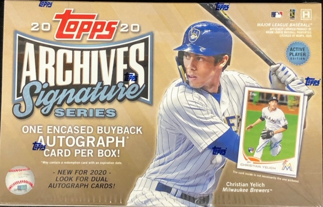 2020 Topps Archives Signature Series MLB Baseball Hobby Box - Active Player Edition