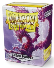 Dragon Shield Sleeves: Clear Purple Matte (Box Of 100)