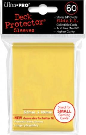 Ultra Pro 60ct Yugioh Sized Sleeves - Yellow