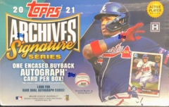 2021 Topps Archives Signature Series Baseball Hobby Box - Active Player Edition