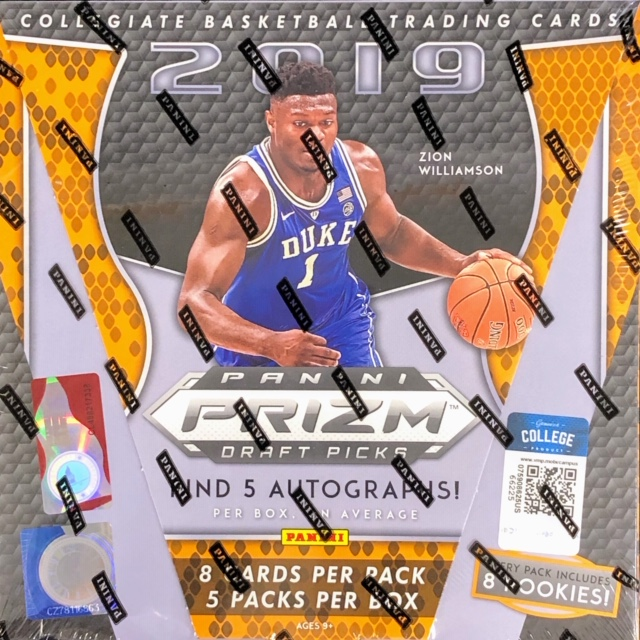 2019 Panini Prizm Draft Picks Collegiate Basketball Hobby Box