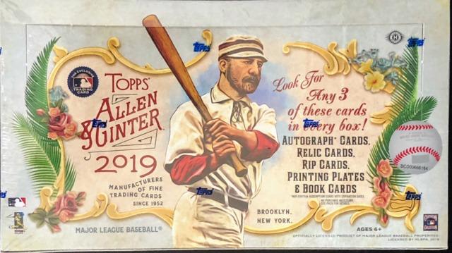 2019 Topps Allen & Ginter MLB Baseball Hobby Box