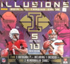 2019 Panini Illusions NFL Football Hobby Box
