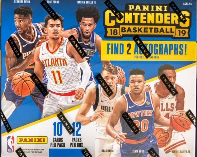 2018-19 Panini Contenders NBA Basketball Hobby Box