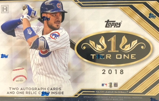 2018 Topps Tier One MLB Baseball Hobby Box
