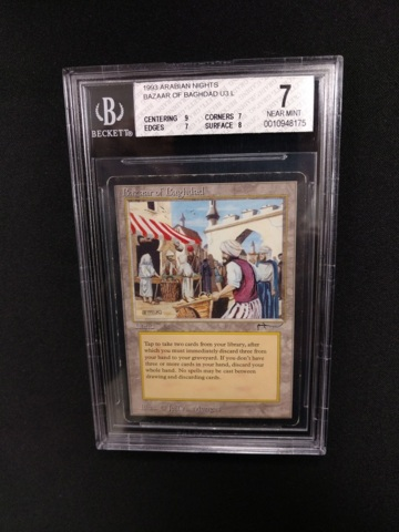 Bazaar of Baghdad BGS 7 NM Arabian Nights MTG Magic Graded Card