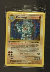 Machamp - 8/102 - Holo Rare -  FACTORY SEALED SHADOWLESS 1st Edition Base Set