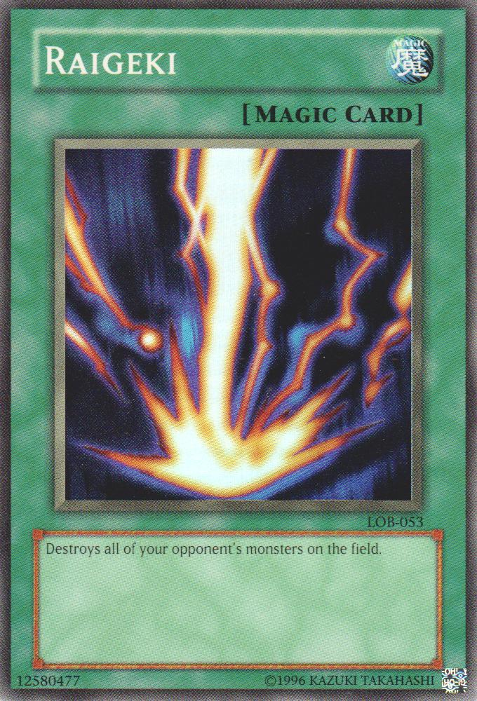 Raigeki - LOB-053 - Super Rare - Unlimited Edition