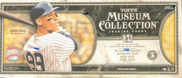 2018 Topps Museum Collection MLB Baseball Hobby Box