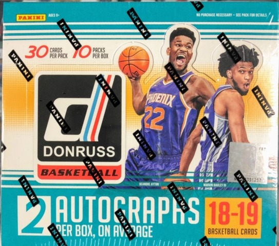 2018-19 Panini Donruss NBA Basketball Jumbo Box