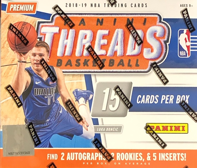 2018-19 Panini Threads NBA Basketball Hobby Box