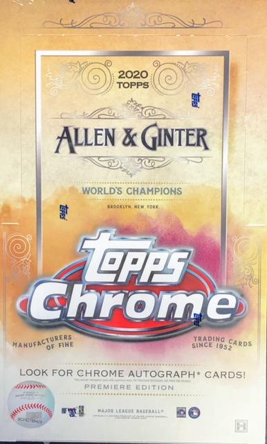 2020 Topps Allen & Ginter Chrome MLB Baseball Hobby Box