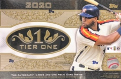 2020 Topps Tier One MLB Baseball Hobby Box